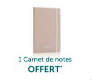 Un carnet de notes offert